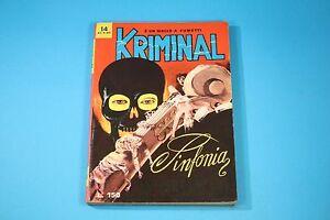 KRIMINAL PRIMA EDIZIONE ORIGINALE ED. CORNO N° 14 [KR-014]