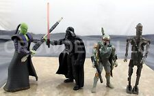 Star Wars Shadows of Empire Darth Vader vs Prince Xizor & Boba Fett vs IG88 OOP