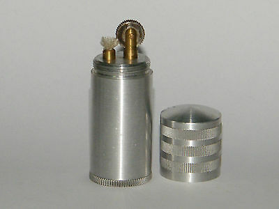 Feuerzeug Patrone Vintage Aluminium,Petrol Ligther Militaria Ungezündet!