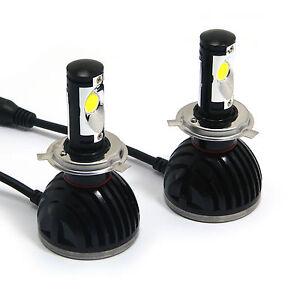 PAIR-Of-Car-Super-Bright-H4-CREE-LED-Headlight-Bulbs-Hi-Lo-Beam-Plug-n-Play