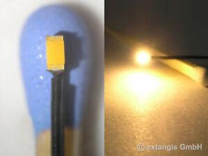 SMD-LED-0603-SUPER-GOLDEN-WHITE-GELBLICH-Litze-yellowish-warm-colour-litz-wire