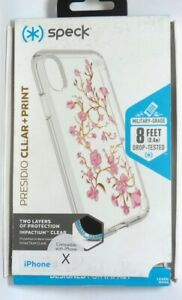 Speck-Presidio-CLEAR-PRINT-Case-for-Apple-iPhone-X-and-XS-White-pink-clear
