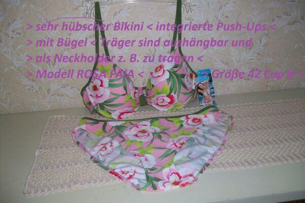 Bikini >push-ups > Größe 42 Cup B > Mit Bügel > Neu Mit Etikett - Nur € 25,90 Construction Robuste