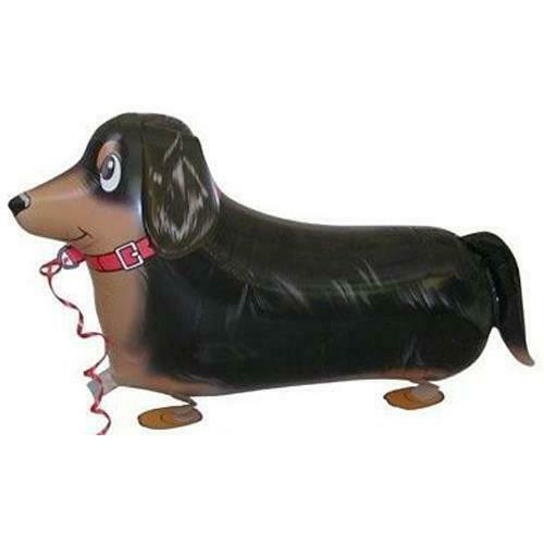 CLEARANCE  Walking Balloon Dog Dachshund Comes with Lead