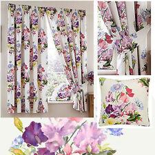 Multi Dreams /'N/' Drapes Marinelli Floral Pencil Pleat Curtains 66 x 72 Inch