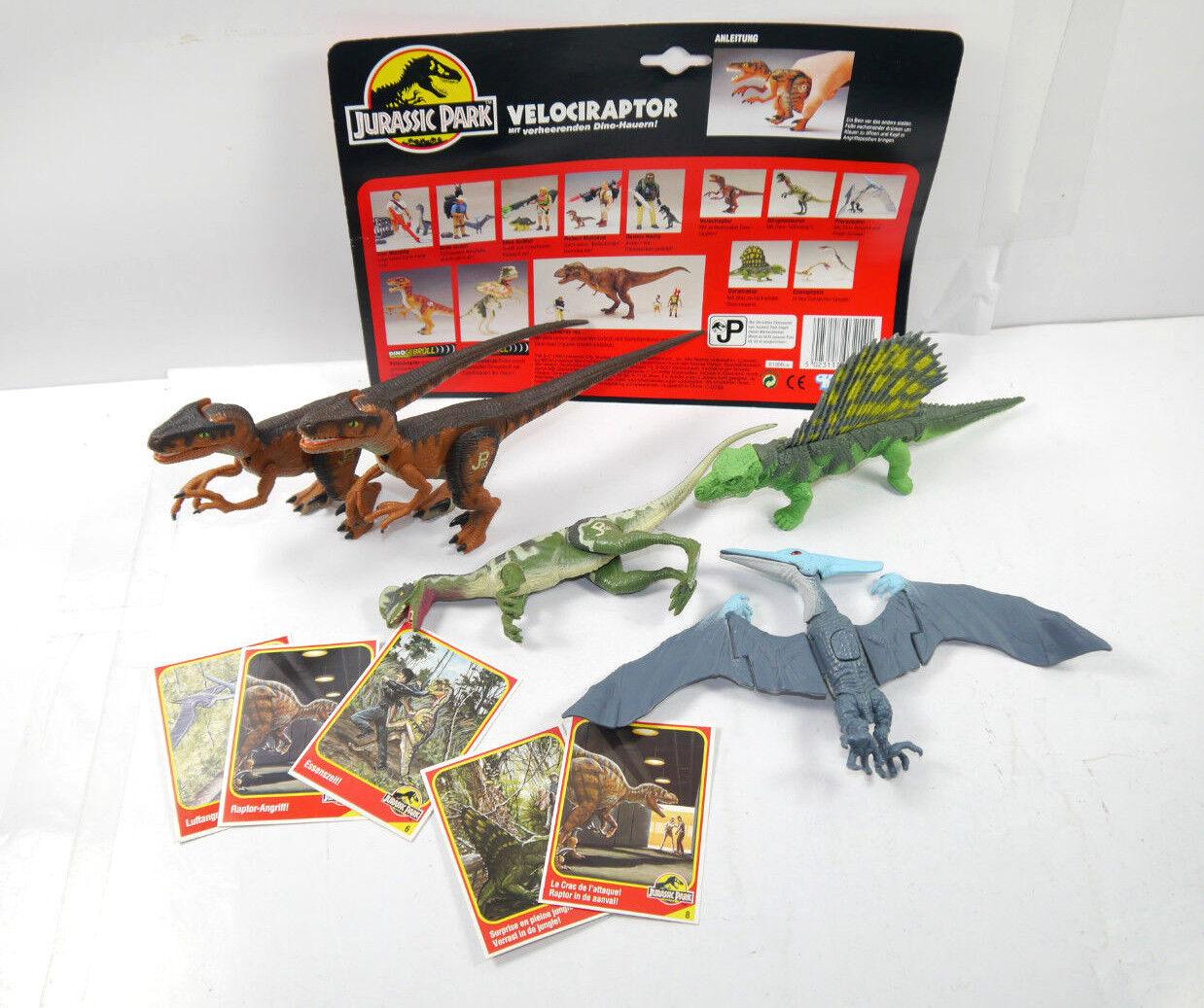 Jurassic Parco Set  Velociraptor Dimetrodonte Dilophosaurus Pteranodon