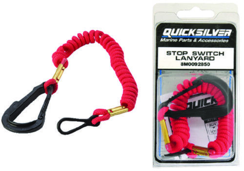 Quicksilver Mercury OEM Kill Cord Safety Lanyard Emergency Stop Switch Lanyard