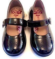 New Girls Pod Solar Patent Bar Leather School Shoe Black UK 6 Infant EUR 24
