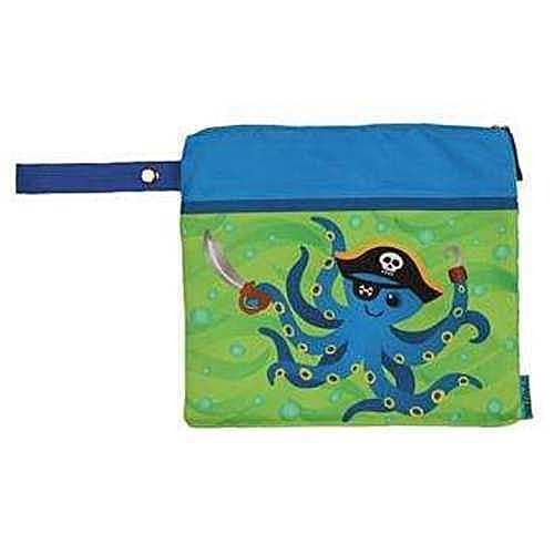 Personalized Stephen Joseph Wet//Dry Swim Bag Octopus
