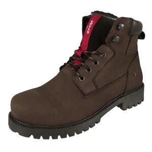 Details zu Levi's Herren Winter Stiefel Hodges Boots Leder gefütterte Schuhe dunkel braun