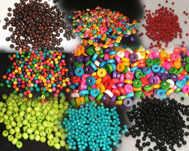MIXED ROUND Wooden Beads~8mm~YOUR CHOICE OF 2 LOTS ~ 300 Pack ~ FREE POST