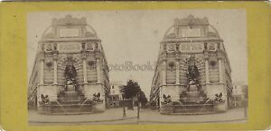 Fontana-Saint-Michel-Parigi-Francia-Stereo-Vintage-Albumina-Ca-1870