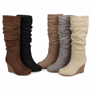 0c7d1c8416a Brinley Co Womens Standard And Wide Calf Slouchy Faux Suede Midcalf ...