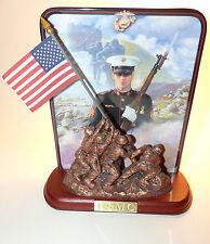 NICE USMC USA MARINES IWO JIMA Bradford Exchange Jim Griffin Collectible Plate !