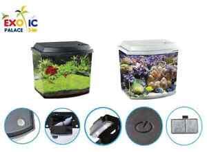 Aquarium Ensemble Haqoss Blu 3,8 O 9,5 Lt Lampe Led Pompe Filtre