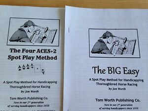 Details about 2 Effective Easy Methods Spot Plays Systems Handicapping  Horse Racing Tom Worth