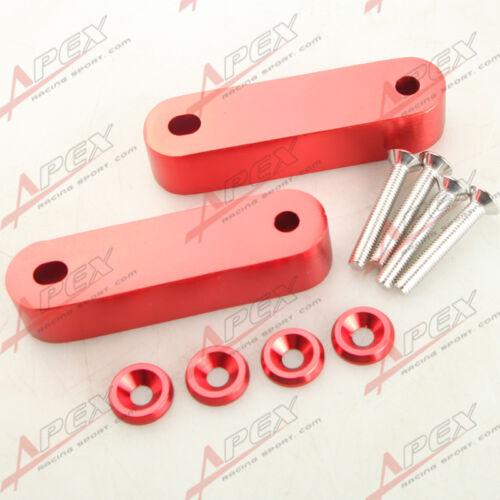 Red Hood Spacer Risers Set Kit For 90-01 Acura Integra Honda Civic CRX