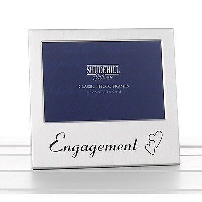 Engagement Satin Silver Photo Frame-shudehill