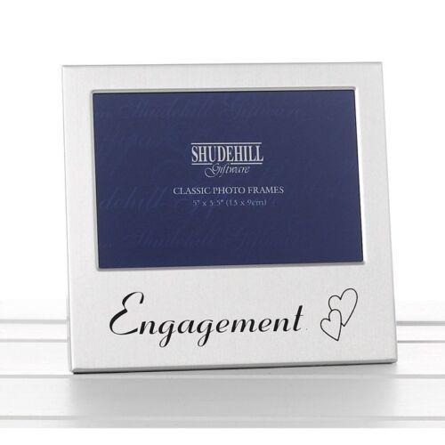 Engagement Satin Argent Cadre Photo-Shudehill