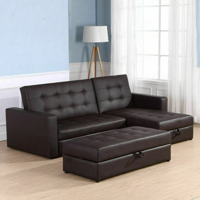 Homcom 833 067bn 3 Seater Sofa Bed