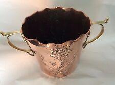 Antique Art Nouveau Copper & Brass Champagne Bucket Circa 1895
