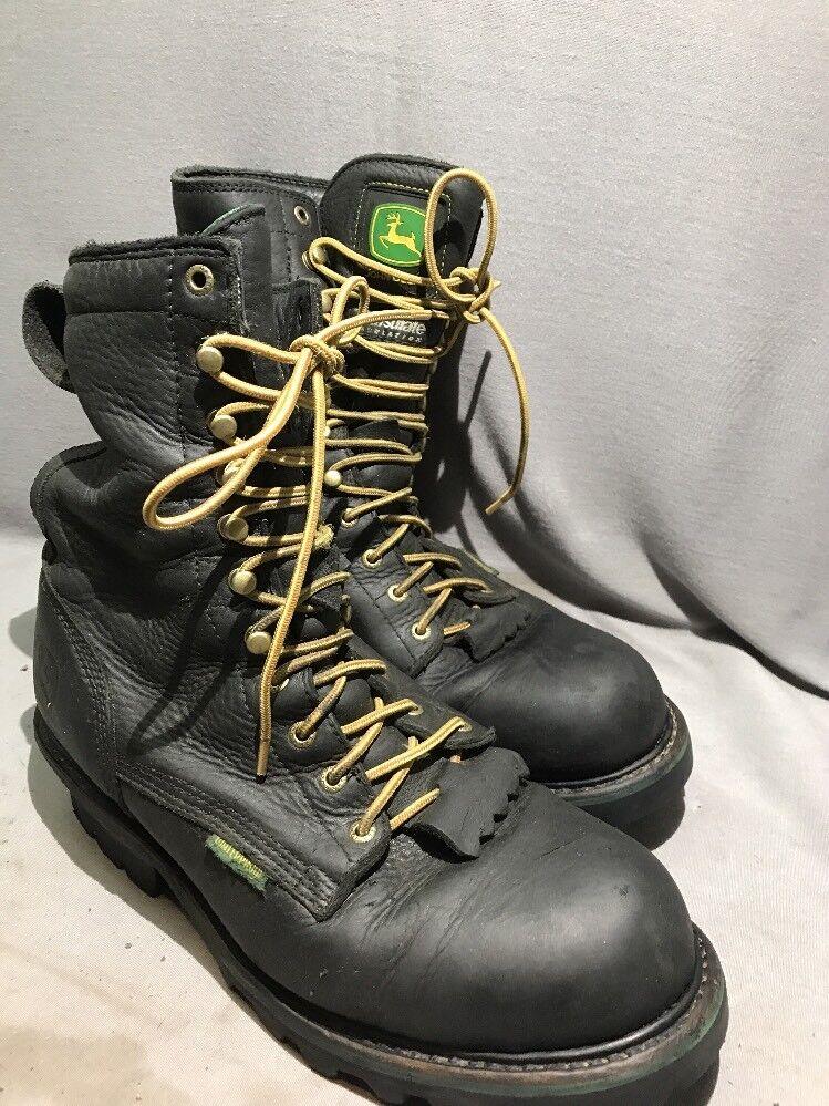 jd9120 John Deere leather Deadstock boots 11 1/2 M Waterproof