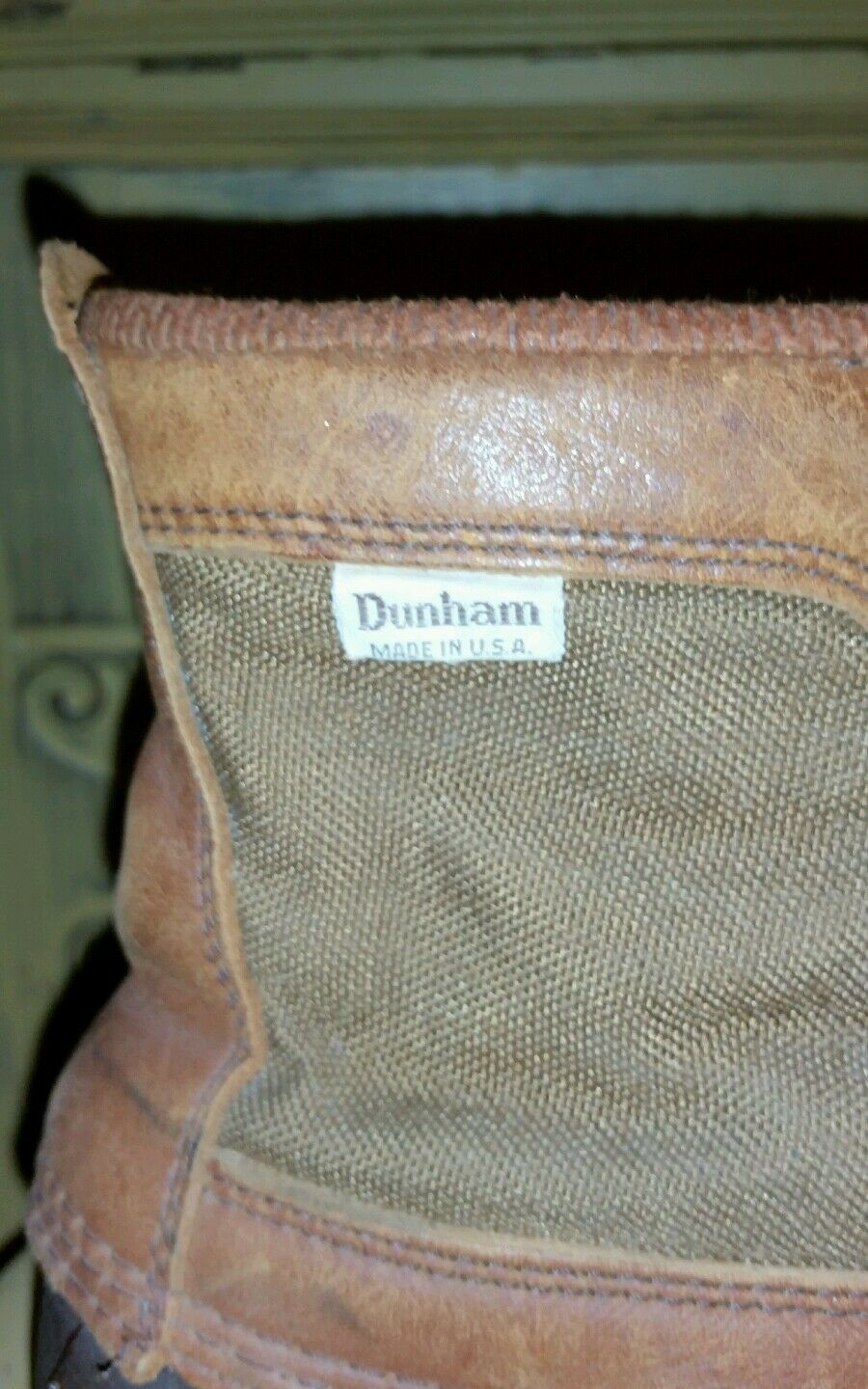 DUNHAM LEATHER CANVAS DUCK HUNTING Stiefel 9 9 9 M BROWN USA HIPSTER fb56a5