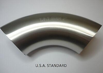 90º Sanitary Stainless Steel Weld elbow 2''