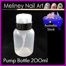 200ml Pump Bottle Nail Polish Remover Empty Dispenser Container Meliney Art
