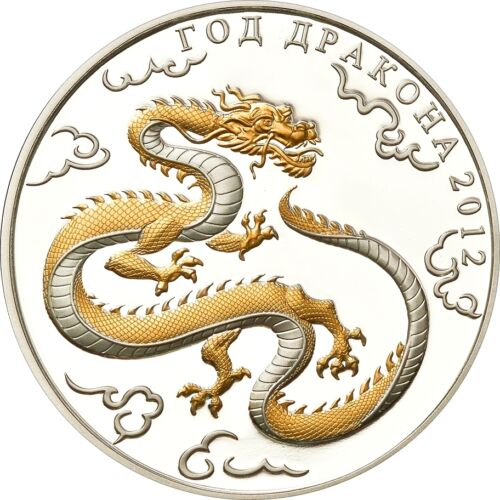 Year of the Dragon silver coin togo 1000 francs 2012