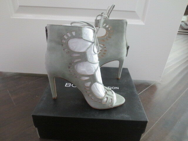 NEW BCBG GENERATION CARNIVAL LUX KID SUEDE SAGE PUMPS HEELS BOOTIE SHOES SAGE SUEDE SIZE 8 46a620