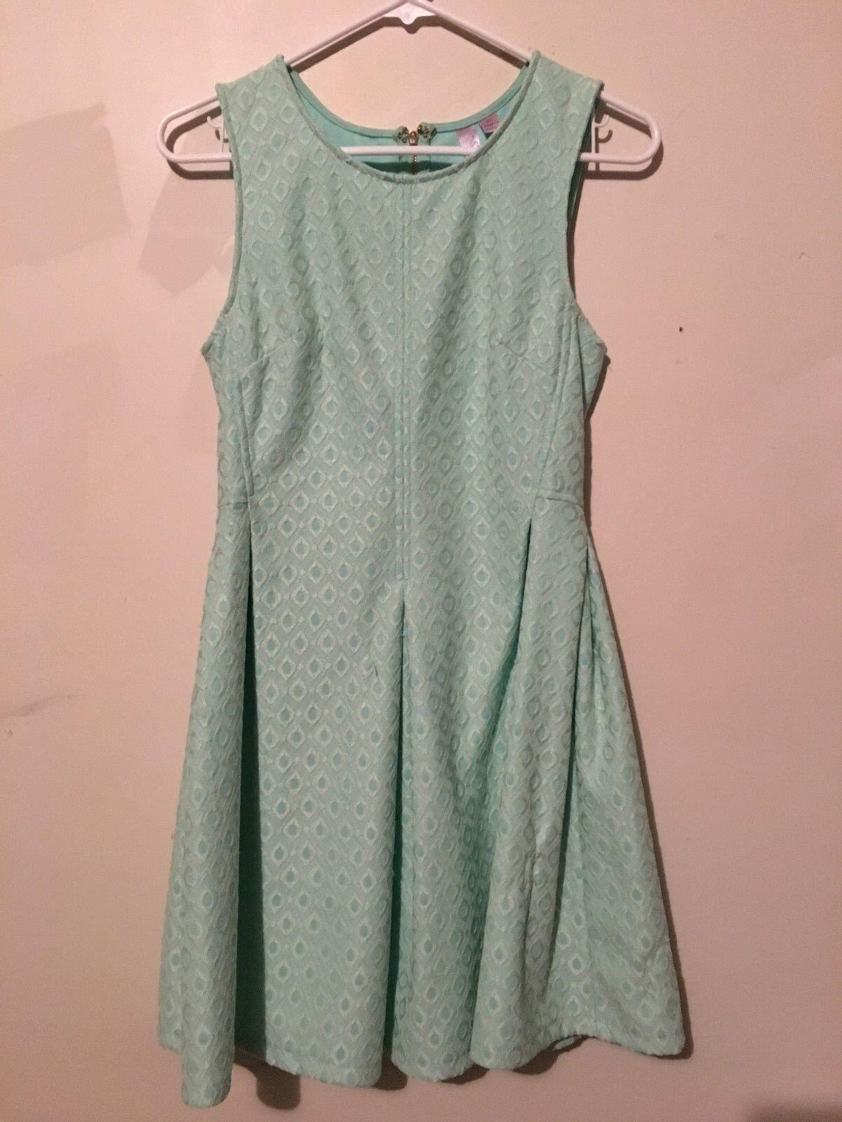 546ff288a59 Alya Green Lace Flare Stylish Dress Size M Sleeveless Stylish Formal Mint  Women ohchmh4330-Dresses