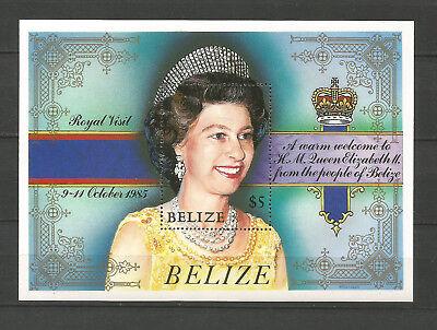 Latin America Stamps Bélize Feuillet Non Oblitéré 1985 Y&tn°62 Visite De Queen Elizabeth Ii /cl4a