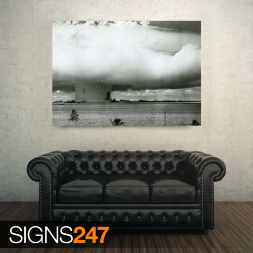 Photo Picture Poster Print Art A0 to A4 AC135 ARMY POSTER ATOMIC BOMB TEST