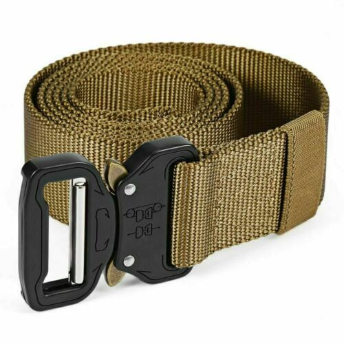 New Tactical Belt Military Webbing Rigger Web Strap with Quick Release Buckle