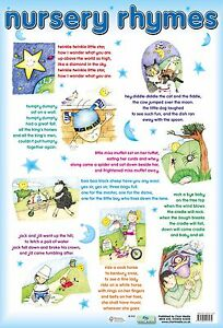 Image Is Loading Nursery Rhyme Poster Educational Por Rhymes