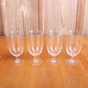 4-Clear-Glass-Footed-Goblets