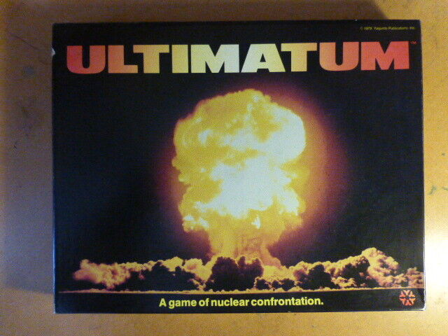 Ultimatum UNPUNCHED and complete  by Yaquinto Nuclear War Game