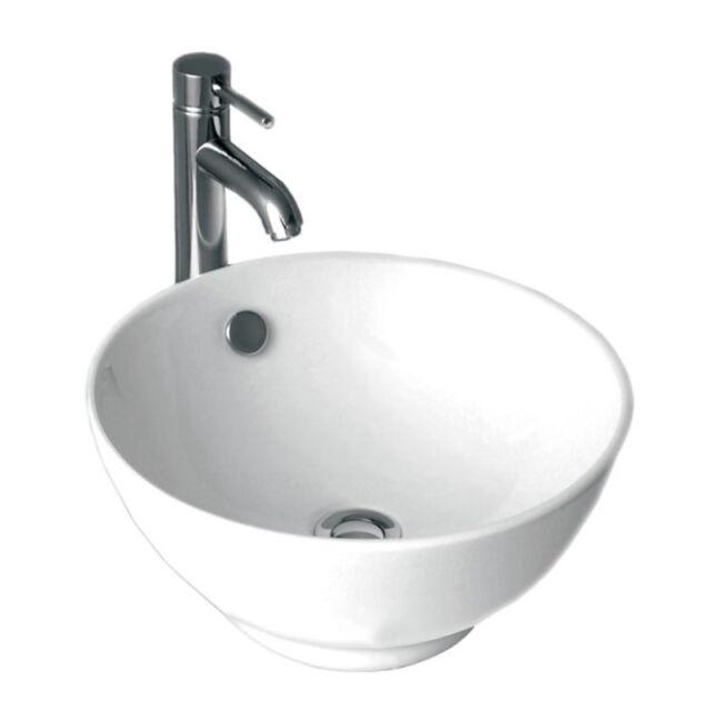 LUXURY ROUND TARA DEEP DISH BOWL BATHROOM CLOAKROOM EN-SUITE BASIN TAP WASTE SET