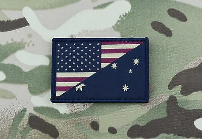 Subdued US/Australia Stars & Stripes/Australia Flag Morale Patch ADF SOTG