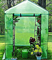 Outdoor Greenhouse Portable Walk In 8 Shelf 2 Tier Brand Garden Green House
