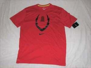 NEW Mens Nike Dri Fit Legend Football Logo Tee Shirt Red Size M ... 80952e9b1
