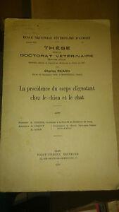 Thèse Doctorat Vétérinaire - Dr. Charles Ricard - Paris Vigot Frères (1937)