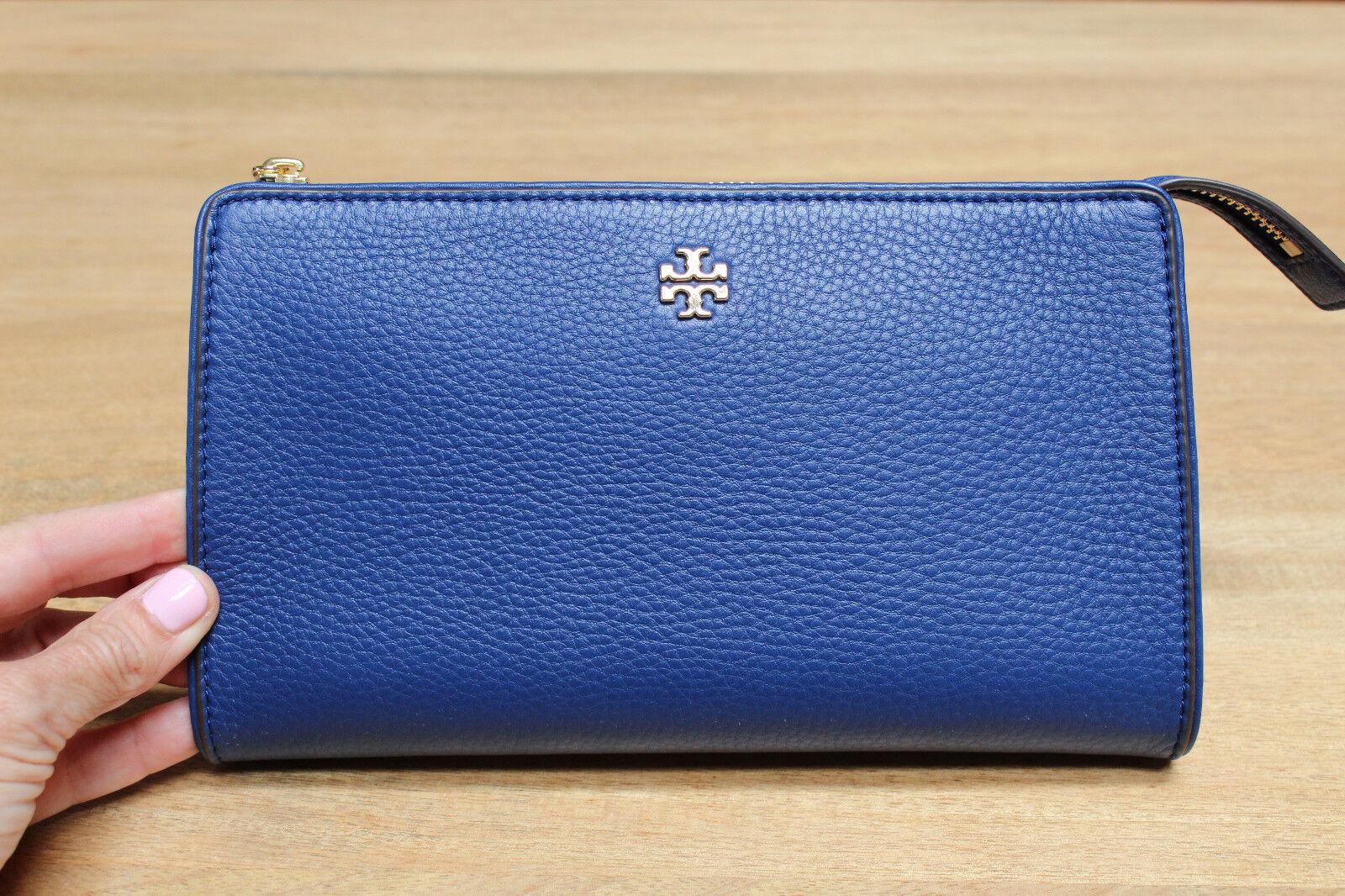8cc558dcc8b Tory Burch Marsden Leather Wallet Crossbody Bag Fresh Blueberry ...