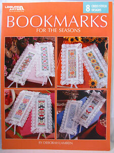 Bookmarks-Cross-Stitch-Patterns-Booklet-For-The-Seasons-8-Designs