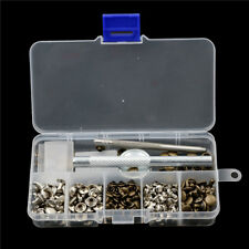 120pcs/set Leather Craft Repair Double Cap Rivets Tubular Metal Stud Fixing Tool