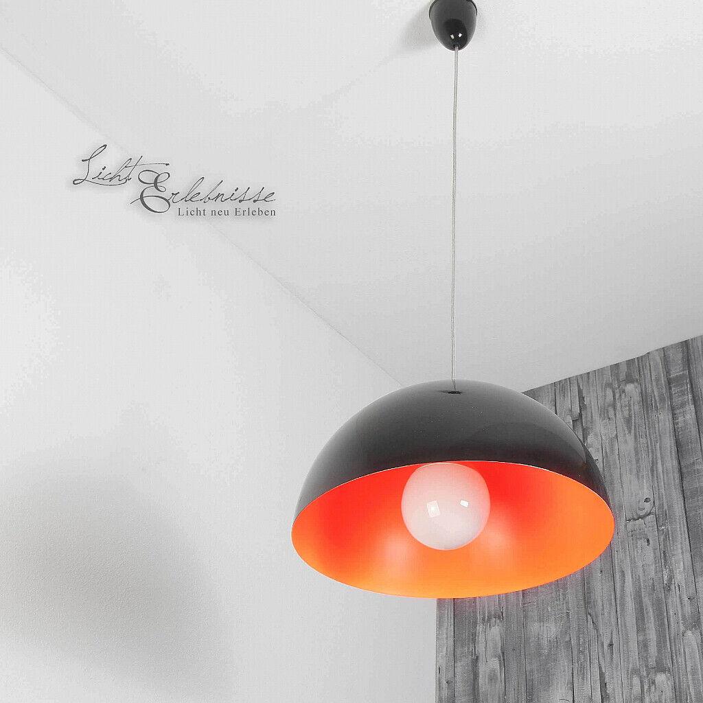 Loft Pendelleuchte in schwarz Orange Ø33 Ø33 Ø33 5cm Hängelampe Decke Innen Küchenlampen a7dff0
