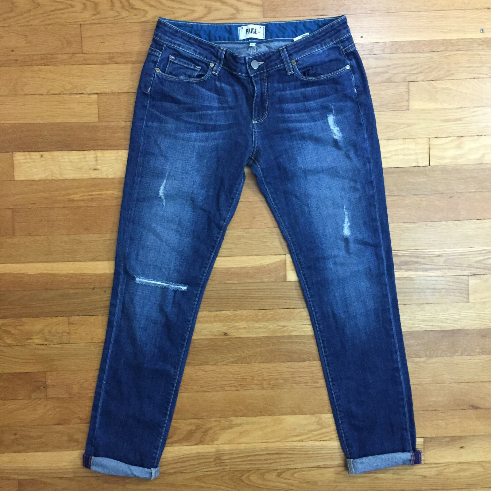 PAIGE Jimmy Jimmy Skinny Distressed Women's bluee Jeans Size 28