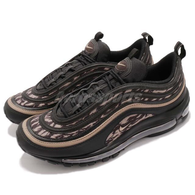 Nike Air Max 97 AOP Black Velvet Brown Camo Print Mens Running Shoes AQ4132 001