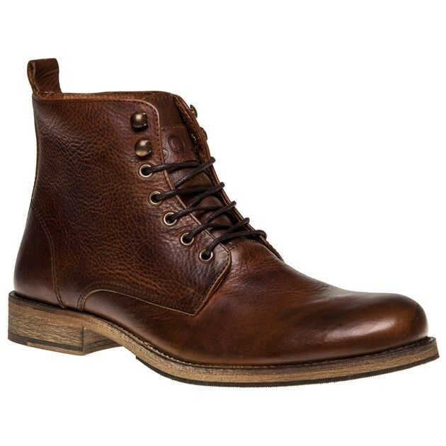 New Mens SOLE Tan Prowse Leather Boots Lace Up